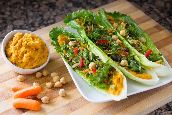 Curry Carrot Chickpea Hummus Recipe